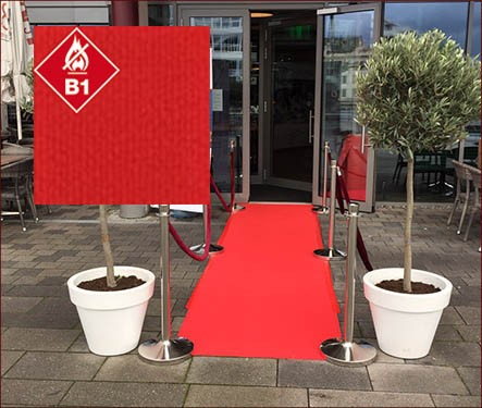 Roter Teppich / Teppichläufer